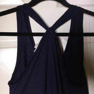 GAP Dresses - Gap Twist Racerback Navy Maxi Dress
